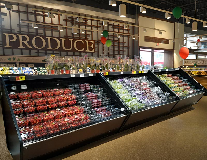 LMRM-HA | High Angle Refrigerated Produce Merchandiser
